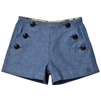 Burberry Chambray Mini Etty Shorts LIGHT INDIGO BLUE