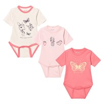 Me Too Las 280 -3-Pack Body SS Strawberry Pink STRAWBERRY PINK
