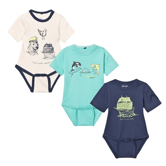 Me Too Las 280 3-Pack Baby Body Dark Denim Dark Denim