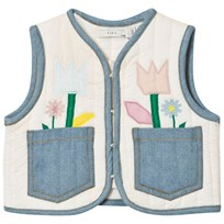 Stella McCartney Kids Pink Flower Applique Twister Gilet 6861