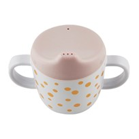 Done by Deer 2-Handle Spout Cup Happy Dots Gold/Powder Happy dots Gold/powder