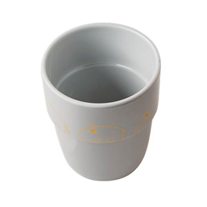 Image of Done by Deer Contour Yummy Mug Gold/Grey (2743707145)