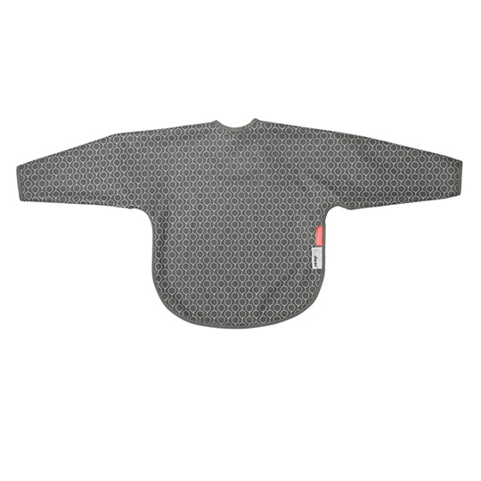 Done by Deer Balloon Sleeved Bib Grey Balloon Grey