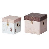 Done by Deer Small Square Box Set 2 Pieces Powder Powder