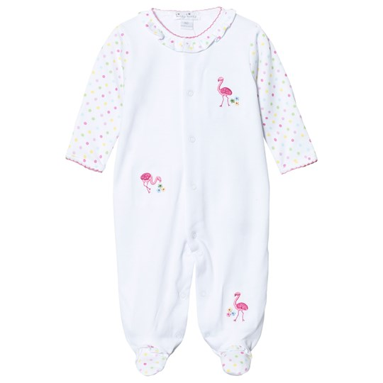 Kissy Kissy White Spot Flamingo Footed Baby Body WH