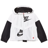 NIKE Black and White Light Hooded Jacket 001
