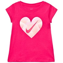 NIKE Pink Step Gradient Heart Tee A72