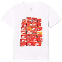 NIKE White Shoe Box Kids Tee 001