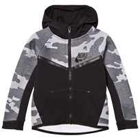 NIKE Black Printed Tech Fleece Zip Hoodie 023