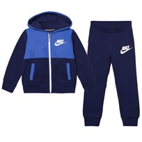NIKE Navy and Blue French Terry Hoodie and Joggers Set B9K