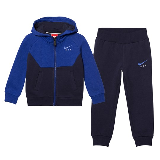 NIKE Navy and Blue Air Fleece Hoodie and Joggers Set 695