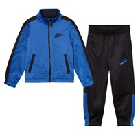 NIKE Black and Blue Futura Jacket and Bottoms Set 023