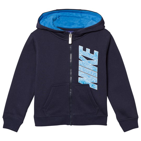 NIKE Navy Club Fleece Zip Hoodie 695
