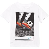 NIKE White Soccer Stipple Tee 001