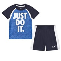 NIKE Blue Just Do It Tee and Short Set 695