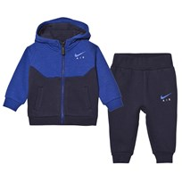 NIKE Navy Infants Air Fleece Hoodie and Joggers Set 695