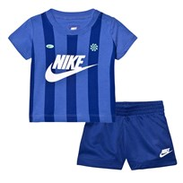 NIKE Blue Infants Team Nike Kit Tee and Shorts Set U1A