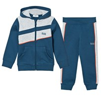 BOSS Navy, Grey Red Branded Tracksuit 804