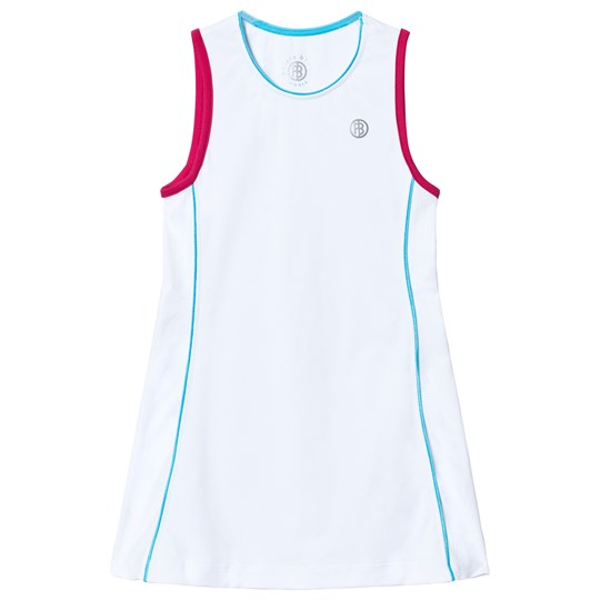 Poivre Blanc White Classic Tennis Dress White/teaberry pink 0002
