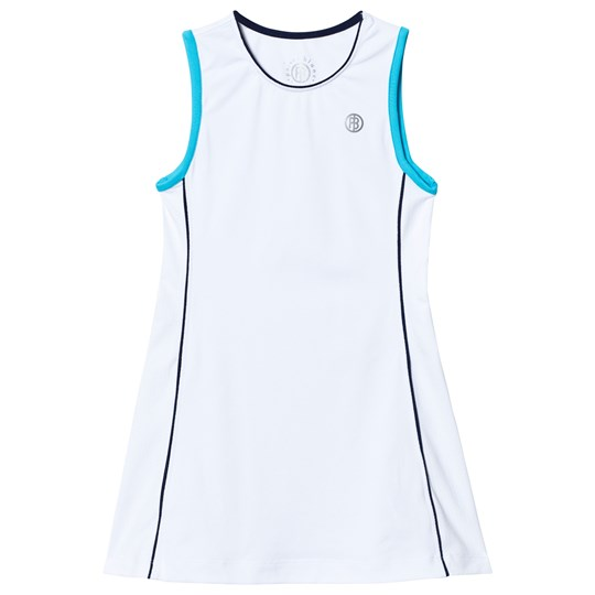 Poivre Blanc White Blue Classic Tennis Dress white/hawaii blue 0003