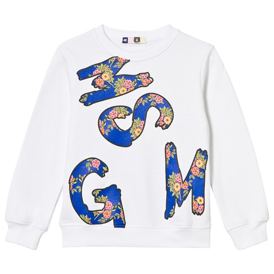 MSGM White Branded Sweatshirt 001