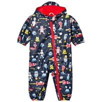 Hatley Navy Space Aliens Print Puddle Suit Navy