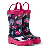 Hatley Navy Butterflies Print Wellies NAVY BUTTERFLIES