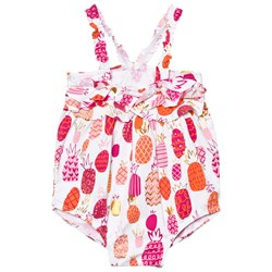 Hatley White Pinapple Print Ruffle Swimsuit