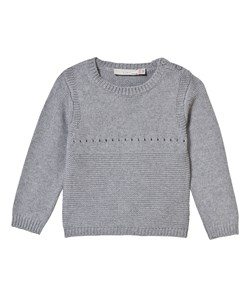 Stella McCartney Kids Jumper Thumper Grey Knitted with Bunny Back