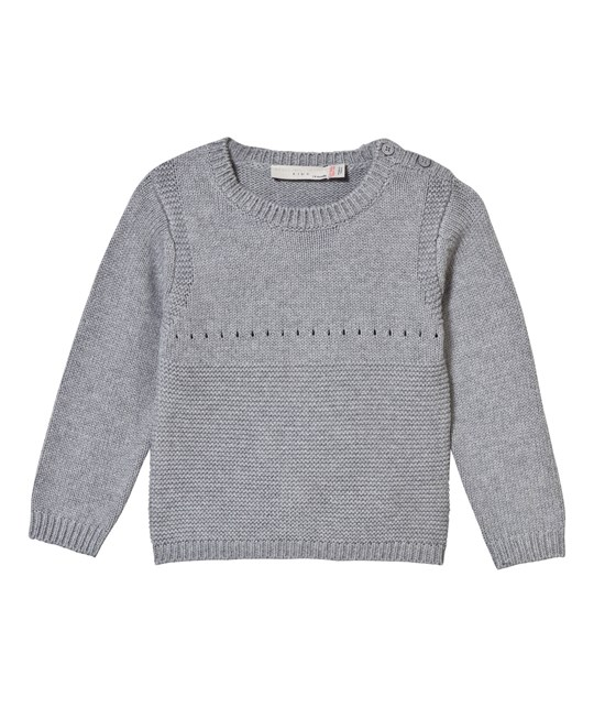 Stella McCartney Kids Jumper Thumper Grey Knitted with Bunny Back 1461