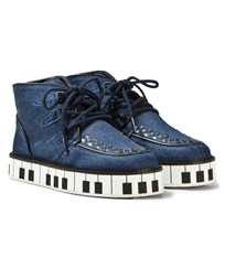 Stella McCartney Kids Munster Denim Shoes with Piano Sole 4160