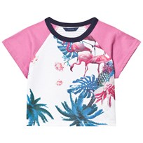 Guess White Flamingo Floral Print Tee P637