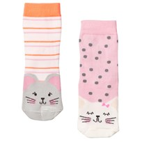 Joules 2 Pack of Cat and Mouse Socks CAT AND MOUSE