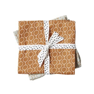 Image of Done by Deer Balloon Burp Cloth 2-Pack Golden (3065504957)