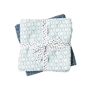 Image of Done by Deer Balloon Swaddle 2-Pack Blue (2743696705)