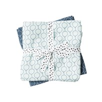 Done by Deer Balloon Swaddle 2-Pack Blue Balloon Blue