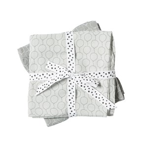 Image of Done by Deer Balloon Burp Cloth 2-Pack Grey (3023219651)