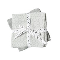 Done by Deer Balloon Burp Cloth 2-Pack Grey Balloon Grey