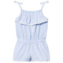 Heidi Klein Blue Jamie Chambray Playsuit Blue