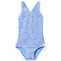 Heidi Klein Blue Jamie Crochet Swimsuit Blue