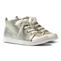 10-IS Gold TEN C Mid Lace Shoes Azur - Gold