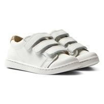 10-IS White Nappa TEN C LO 3 Velcro Shoes White