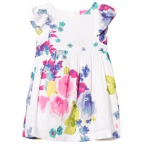 Joules White Floral Woven Party Dress OCEAN BLOOM