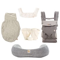 Ergobaby Complete Newborn set 360 4-Position Baby Carrier/Infant Insert/Nursing Pillow/Swaddler/Teething Pad Sort