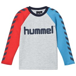 Hummel Lukas Tee Light Grey Melange