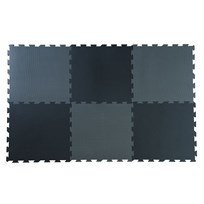 Basson Baby Black/Grey Play Mat 6 pcs Black