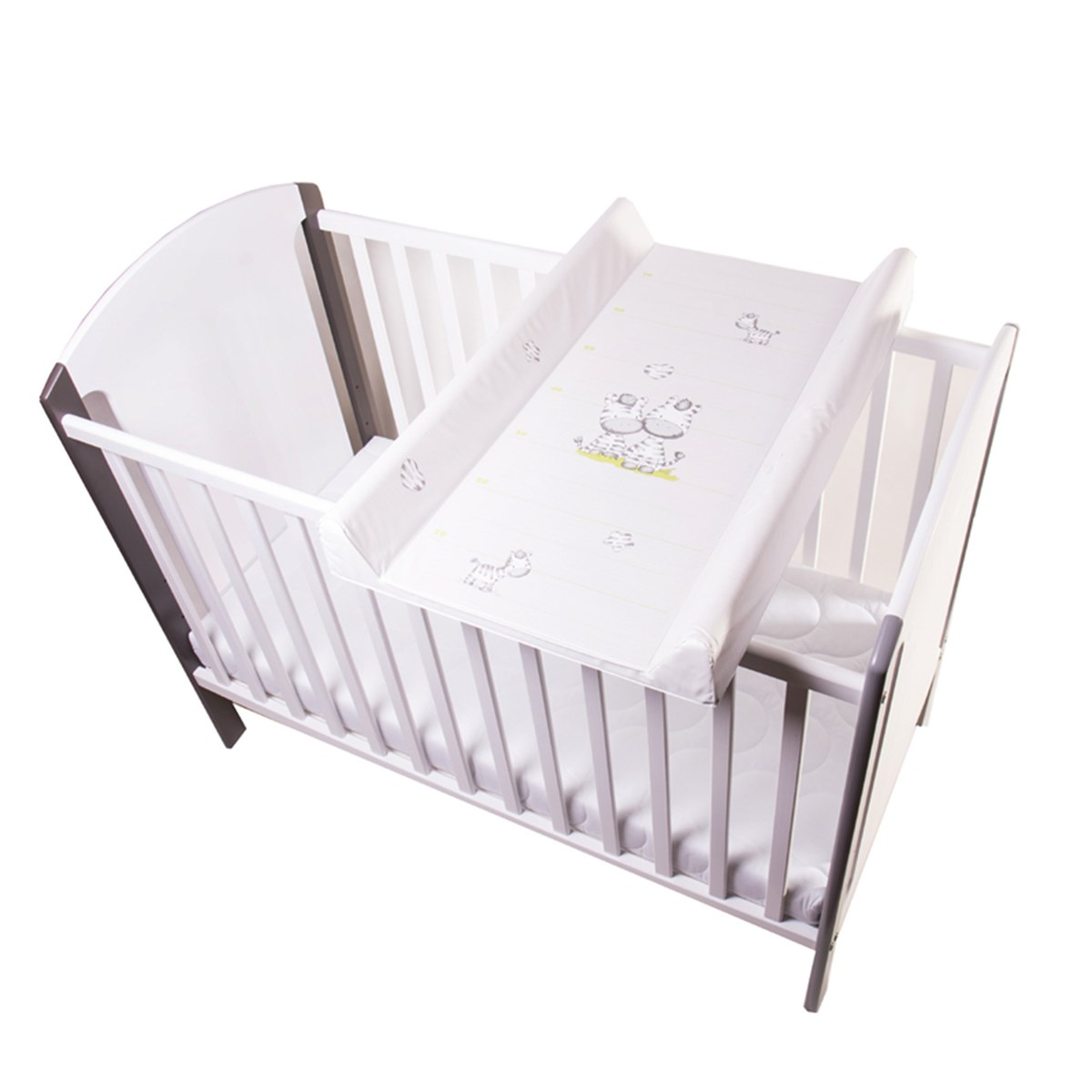 Basson Baby - Changing Pad for Cot Zebra Grey/White ...