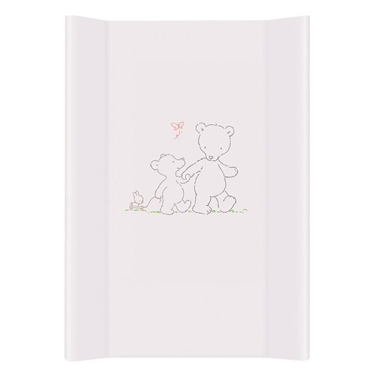 Basson Baby Changing Pad White Grey Teddy Bear White