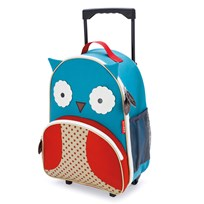 Skip Hop Zoo Kid's Rolling Luggage Owl Multi