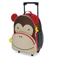 Skip Hop Zoo Kid's Rolling Luggage Monkey Multi